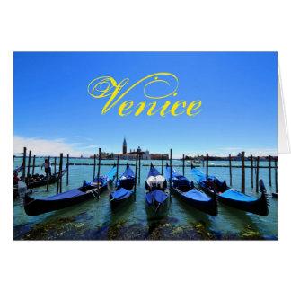 Cartão Lagoa azul em Veneza, Italia