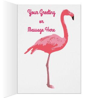 Cartão Lagoa do flamingo