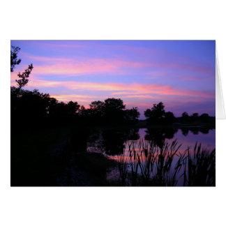 Cartão Lagoa Notecards do por do sol