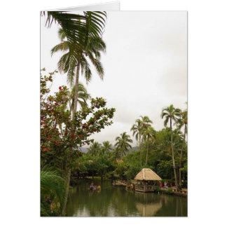 Cartão Lagoa tropical