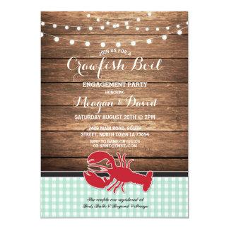 Cartão Lagosta da hortelã da festa de noivado da fervura