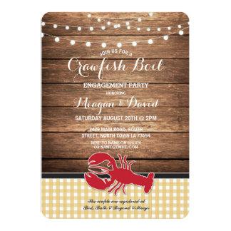 Cartão Lagosta da verificação da festa de noivado da
