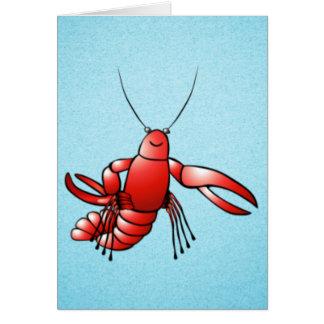 Cartão Lagosta engraçada dos lagostins
