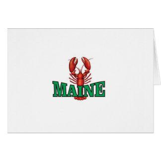 Cartão lagosta verde de Maine