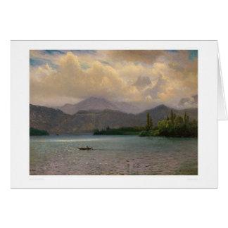 Cartão Lake Tahoe, Califórnia por Bierstadt (0102a)