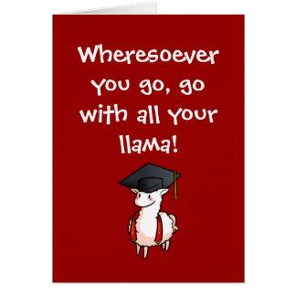 Cartão Lama da graduação