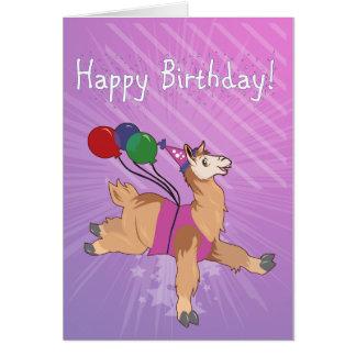 Cartão Lama do feliz aniversario!