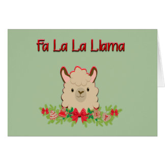 Cartão Lama do La do La do Fa
