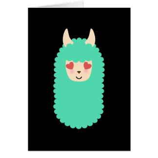 Cartão Lama Emoji do amor