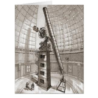 Cartão Lamba o telescópio 1889