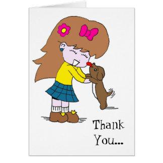 Cartão Lamba, obrigado do amor de filhote de cachorro