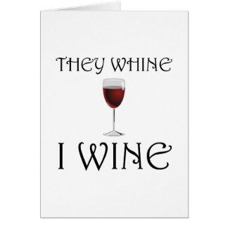Cartão Lamentam-se vinho de I