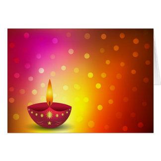 Cartão Lâmpada decorativa de incandescência de Diwali