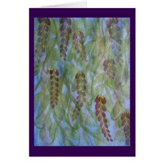 Cartão Lance abstrato das glicínias da aguarela