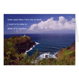 Cartão Land's End #1 com poema: Certas vezes quietas