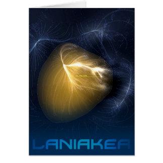 Cartão Laniakea - nosso Supercluster local