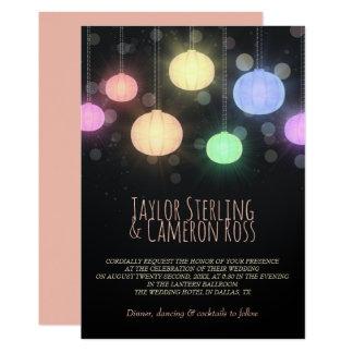 Cartão Lanternas de incandescência do arco-íris que