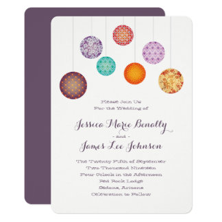 Cartão Lanternas de papel de incandescência que Wedding a
