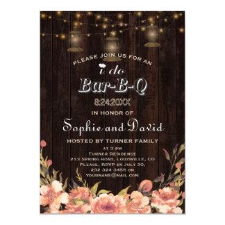 Cartão Lanternas velhas de madeira florais de Boho do