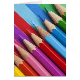 Cartão Lápis coloridos