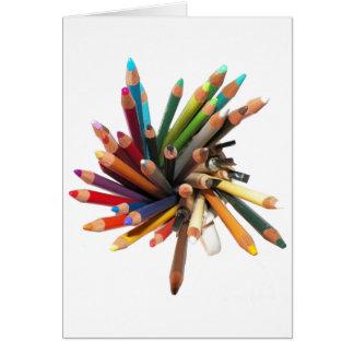 Cartão Lápis coloridos artistas do óleo