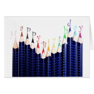 Cartão Lápis do aniversário