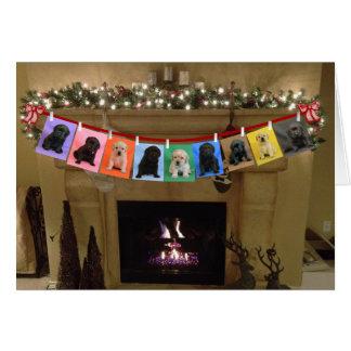 Cartão Lareira do Natal da honra