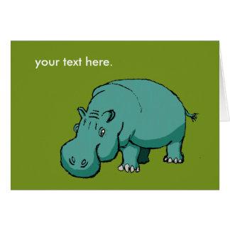 Cartão Larry o Hippo.