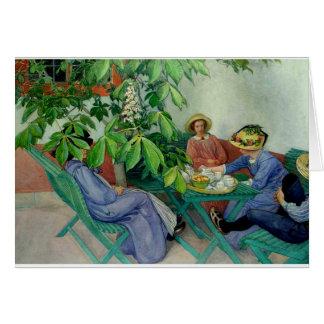 Cartão Larsson - sob a árvore de castanha