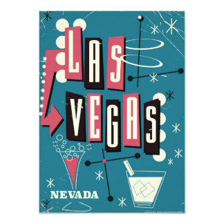 Cartão Las Vegas que wedding o poster das viagens vintage