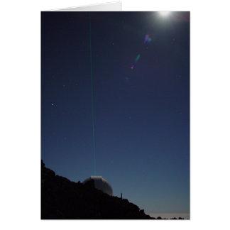 Cartão Laser às estrelas