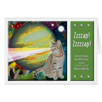 Cartão Laser-Gato Mossbody