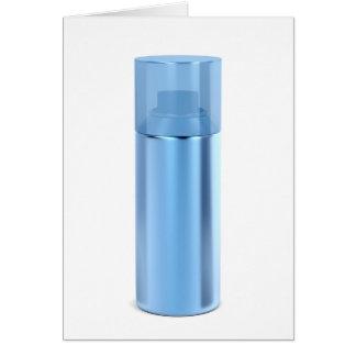 Cartão Lata de pulverizador azul do aerossol