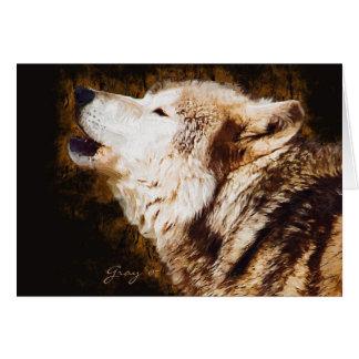 Cartão Latir do lobo cinzento