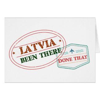 Cartão Latvia feito lá isso