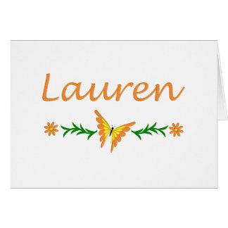 Cartão Lauren (borboleta alaranjada)