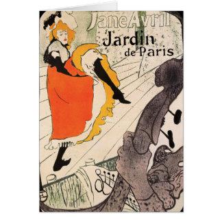 Cartão Lautrec: Jane Avril, Jardin de Paris