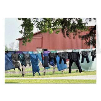 Cartão Lavanderia de Amish