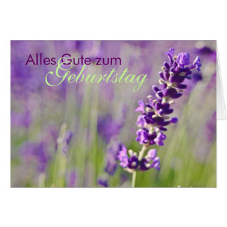 Cartão Lavendel • Geburtstagskarte