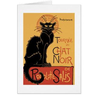 Cartão Le Conversa Noir por Théophile Steinlen