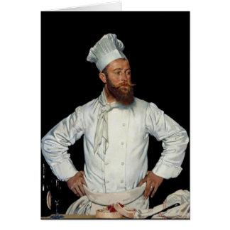 Cartão Le Cozinheiro chefe por Orpen