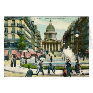 Cartão Le Panteão, Paris France Vista, vintage 1921