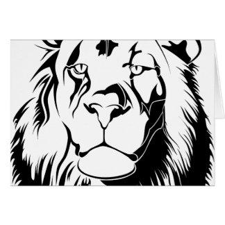 Cartão Leão 002 tribais
