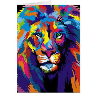 Cartão Leão colorido
