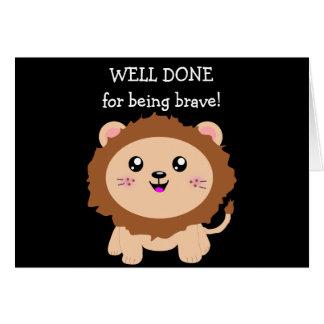 Cartão Leão corajoso - bem cozido para ser bravo