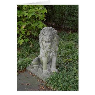 Cartão Leão de pedra