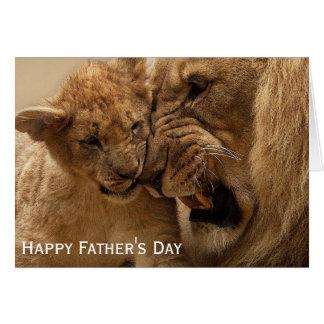 Cartão Leão e dia dos pais de Cub