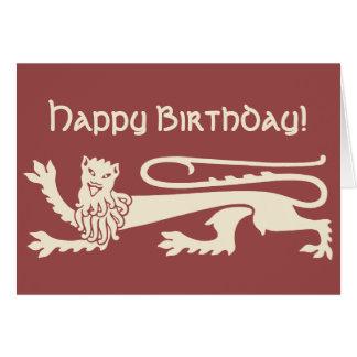 Cartão Leão feliz louco Augustus Pugin CC0990 do