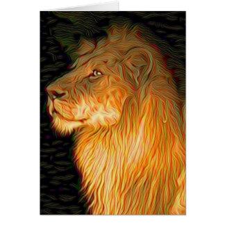 Cartão Leão orgulhoso