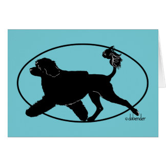 Cartão Leão português de Gaiting do cão de água